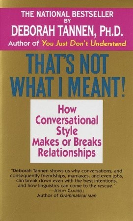 [PDF] [EPUB] That's Not What I Meant! Download by Deborah Tannen