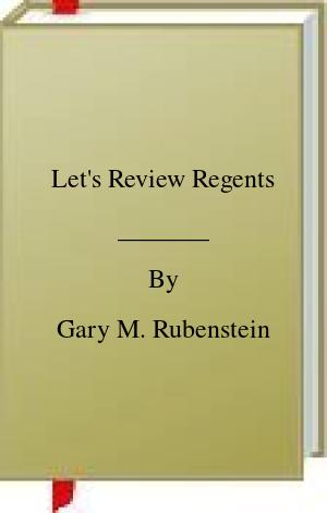 [PDF] [EPUB] Let's Review Regents Download by Gary M. Rubenstein
